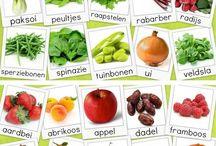 Eet gezond. / groentes, infographics, fruit.
