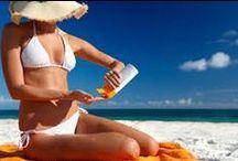 Zonnecreme / Via één van de bovenste afbeeldingen kunt u doorklikken naar het blog over zonnecrèmes.