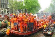 Koningsdag/Koninginnedag. / Feest in Nederland.