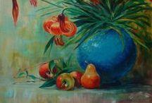 still life / olio su tela di  Anila Ciccone