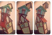HandMade with Paper and Cardboard / Oggetti di carta e cartone, ideali per feste