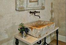 Old stone sinks / Some of our charming old stone sinks and inspirations...