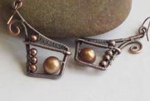 Wire earrings board