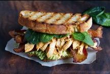 Sandwiches & Savoury Flatbreads / Sometimes you want a little something more for lunch than a PB & J sandwich. Gourmet sandwiches and savoury flatbreads fit the bill perfectly.
