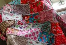 Rag quilts / Mooie kleurrijke rag quilts