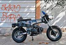 Mapache Cafe Racer Obsession / Mapache es una Café Racer pequeña y absurda preparada para culebrear entre y casi por debajo de los coches. Customización realizada desde una Monkey Bike 125cc por CRO Motorcycles