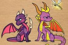 Dragonu' mov și unu' roz / <3