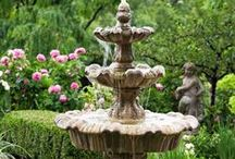 GARDEN ART / Everything Considered Garden Art; i.e., Statuary, Arbors, Fountains & Ponds, Pots of Flowers, Topiaries, Flower Boxes, Bird Houses & Feeders, Lighting, Etc., Etc., Etc. / by Val Simich