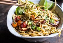 Noodles / Noodles are a quick and easy dinner to put together. Loaded with vegetables, they are a great way to get your daily dose.