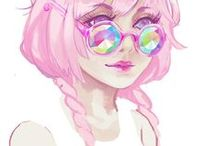 Pastel Goth / Such a cute style! I love pastel goth!