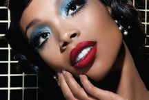 Holiday Makeup for Dark Skin / Holiday makeup looks for dark skin tones.  Foundation, eye shadow, lipstick for dark skin.  African American women.