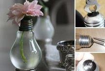 DIY Ideas - Recycle light bulbs