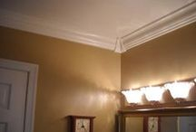 RowlCrown is ideal for bathrooms! / RowlCrown crown molding is made out of PVC, so it resists mold and mildew.