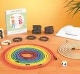 Lekker bewegen / Op dit bord vind je reviews van materialen die de grove en/of fijne motoriek stimuleren.