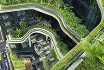 Green Architecture / Inspiration of the designer of Jardins de Babylone. A collection of pins that contains Forest, Nature, Green design, Architecture, Trees, Plants, etc.