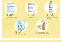 { DIY House Cleaners } / DIY house cleaner ideas and recipes to help reduce exposure to chemicals in your home.