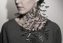 """– Jewelry Innovation – / Cutting-edge, Unexpected Designs that Inspire Creativity and make you say """"Wow"""".   If you would like to pin imaginative, eye-catching jewelry that surprises and inspires the artist in you– please let me know by commenting on one of my pins and I'd be happy to add you."""