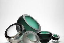 Glass design ashtrays