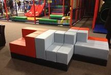 Play / This board shows play environments where Cellular™ modular furniture has been installed.