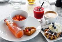 Vesper Breakfast - Every great day requires a great start / The windows at Vesper allow light to pour into our lobby at sunrise. Come and enjoy the start of the day with a wonderful view and a selection of tastes.  Every guest at Vesper Hotel receives a hearty breakfast, served in our lobby. Our chef is always available to cater to your every need, so don't be shy – ask us for something special.