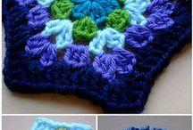 Quadrados,hexagon-tutorial / Crochet