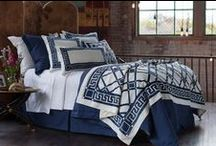Jon-L Navy with White / The Jon-L Navy with White bedding collection from our 2015 catalogue.