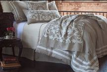 Angie Natural Linen with White / The Angie Natural Linen with White bedding collection from our 2015 catalogue