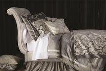 Versailles Silver Velvet Bedding / The Versailles Silver Velvet Bedding collection from Lili Alessandra's 2015 catalogue