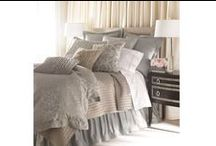 Jackie Blue-Silver Jacquard / The Jackie Blue-Silver Jacquard bedding collection from Lili Alessandra's 2015 catalogue