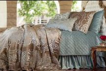 Louie Champagne Velvet with Silver Print / The Louie Champagne Velvet with Silver Print bedding collection from Lili Alessandra's 2015 catalogue