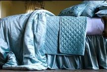 Chloe Seafoam Velvet / The Chloe Seafoam Velvet coverlets and bedspreads collection from Lili Alessandra's 2015 catalogue