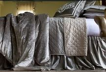 Chloe Silver Velvet / The Chloe Silver Velvet coverlets and bedspreads collection from Lili Alessandra's 2015 catalogue