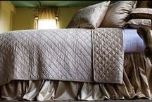 Chloe Champagne Velvet / The Chloe Champagne Velvet coverlets and bedspreads collection from Lili Alessandra's 2015 catalogue