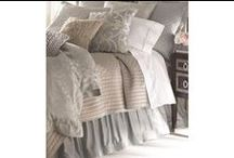 Silk & Sensibility Silver / Blue / The Silk & Sensibility Silver / Blue coverlets and bedspreads collection from Lili Alessandra's 2015 catalogue