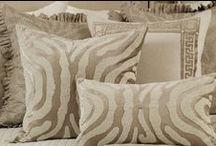 Zebra Decorative Pillows / The Zebra collection of decorative pillows from Lili Alessandra's 2015 catalogue.