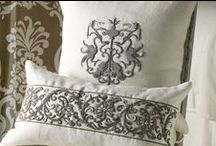 Embellished Pillows with Silver Zardozi Decorative Pillows / The Embellished Pillows with Silver Zardozi collection of decorative pillows from Lili Alessandra's catalogue.