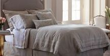 Casablanca Stone with Stone Bedding / The Lili Alessandra Casablanca Stone with Stone Bedding Collection. Accents of fawn velvet and slate linen. #LinenBedding #velvetbedding