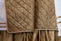 Chloe Straw Velvet Bedding / The Lili Alessandra Chloe Straw Velvet Bedding Collection from the 2016 catalogue.