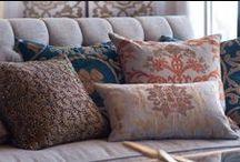 Madonna Decorative Pillows / The Lili Alessandra Madonna Decorative Pillow Collection from the 2016 catalogue.