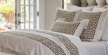 Laurie / Guy Basketweave with Gold Embroidery Bedding / Textured, Organic, Classic Bedding.