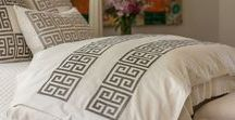 Platinum Velvet Guy Bedding / Geometric and textured bedding for a luxurious clean look.