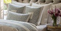 Blue Silk Guy Bedding / Geometric and textured for a clean luxurious look.