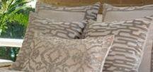 Christian White with Platinum Bedding #Platinum #Linen #Bedding / Clean and modern platinum bedding in white washable linen. #Linen