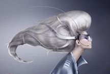 Fashion portrait / Fashion portraits - most creative hair dress, make-up, style in Aleksey&Marina's work.