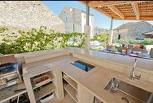 Summer kitchens / A selection of summer kitchens in our French holiday properties.
