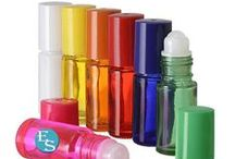 Aromatherapy and Essential Oils Bottles and Rollon Bottles / Beautiful Colored Glass Roll On Bottles, Atomizers,  Pump, Lotion and Scrub Containers for Aromatherapy, Essential Oils and Perfumes #essentialoil #aromatherapy