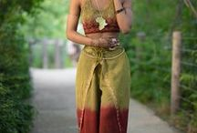 Pantalones  - Africana / There's nothing like finding that next pair of pants you'll wear until it's just threads.  Africana, hippie, and rasta pantalones have the best colors and flow.