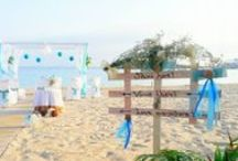 Beach Wedding, Wedding Proposal at the beach, Candle light Dinner at beach etc. / nice events on the beach , decoration ideas