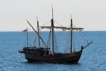 The Nina and Pinta / The Niña is a replica of the ship on which Columbus sailed across the Atlantic on. Columbus sailed the tiny ship over 25,000 miles.  That ship was last heard of in 1501, but the new Niña has a different mission.  We are a floating museum, and we visit ports all over the Western Hemisphere.   Pinta - Our Second Columbus Replica Ship   Pinta was recently built in Brazil to accompany the Nina on all of her travels. She is a larger version of the archetypal caravel.