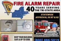 Fire Alarm Repair in NJ / A fire can quickly destroy precious memories and priceless heirlooms and belongings. We rarely think of a fire affecting our lives unless we've experienced one, however the speed by which a fire can spread must be addressed and prevented with proper fire alarm repair. Advancements within the fire alarm industry have developed fire alarms and smoke detectors that offer faster emergency response times.